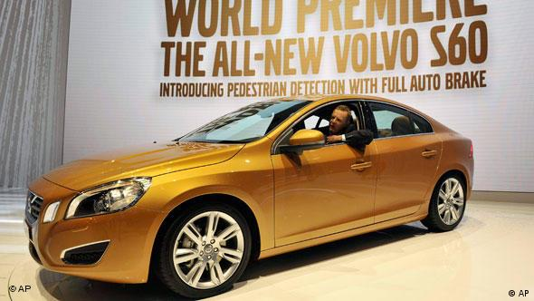 The New Volvo S60 is shown during the press day at the 80th Geneva International Motor Show, Tuesday, March 2, 2010, in Geneva, Switzerland. The Motor Show will open its gates to public from March 4 to March 14, presenting over 1,000 brands with more than 100 World and European firsts. (AP Photo/Keystone/Sandro Campardo)