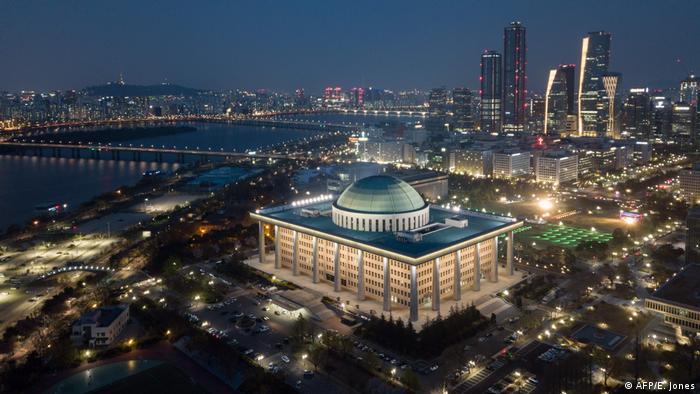 Südkorea Seoul Wahlen Nationalversammlung (AFP/E. Jones)