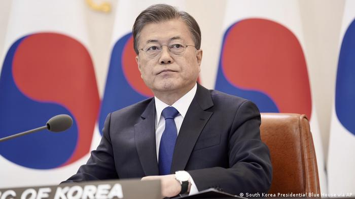 Moon Jae-in Präsident Südkorea (South Korea Presidential Blue House via AP)