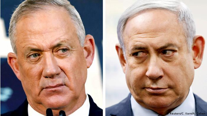 Bildkombo Israel Gantz Netanjahu