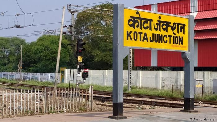 Indien - Bahnstation in Kota