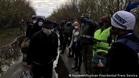 Обмін утримуваними особами на Донбасі 16 квітня
