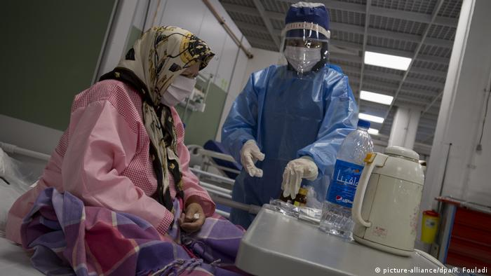 Covid-19 Iran Krankenhaus in Shoppingcenter