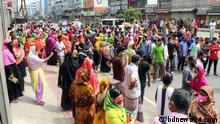 Textilarbeiter in Bangladesch protestieren
