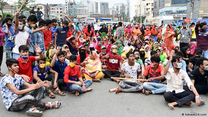 Textilarbeiter in Bangladesch protestieren (bdnews24.com)