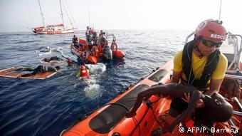 Επιχείρηση διάσωσης προσφύγων στο Αιγαίο