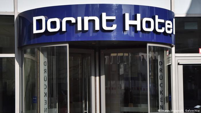 A door into a Dorint Hotel in Cologne