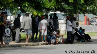 Covid-19 und Arbeitslosigkeit in Inhambane Afrika Mosambik