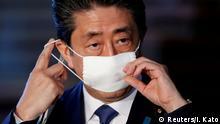 Premierminister Shinzo Abe Japan Ausweitung Maßnahmen Coronavirus
