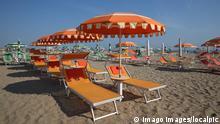 Italien, Die Adriaküste bei Rimini, Italy the Adriatic coast at Rimini