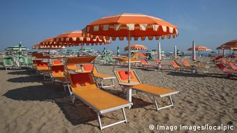 Εικόνα από παραλία στο Ρίμινι