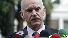 Griechenland Finanzkrise Ministerpräsident George Papandreou Presse