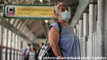 A woman wears surgical mask as protective measure while rides on the subway amid of Daily Life of coronavirus lockdown. Mexican Government made it compulsory for everyone wear a protective mask once outside of their homes an attempt to curb the spread of the Covid-19. On April 15, 2020 in Mexico City, Mexico. Photo by Ricardo Castelan Cruz/Eyepix/ABACAPRESS.COM |