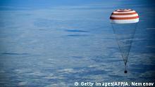 Sojus MS-11-Kapsel bei Landung