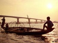 Река Меконг в Камбодже