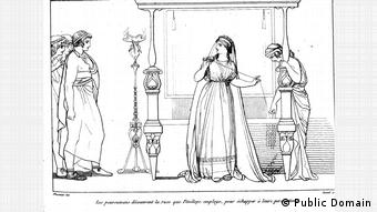 Пенелопа и женихи. Иллюстрация к Одиссее Гомера