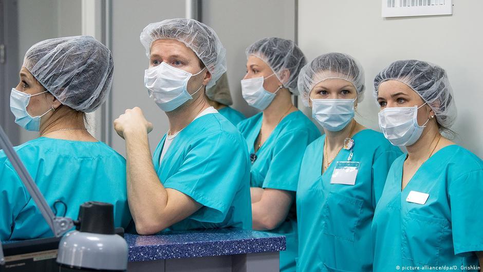 Russland Moskau Coronavirus RZD Medical Centre