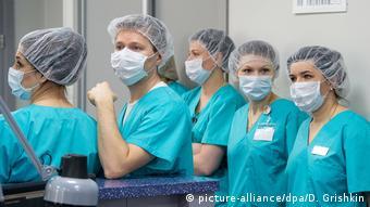 Врачи в больнице в Люблино