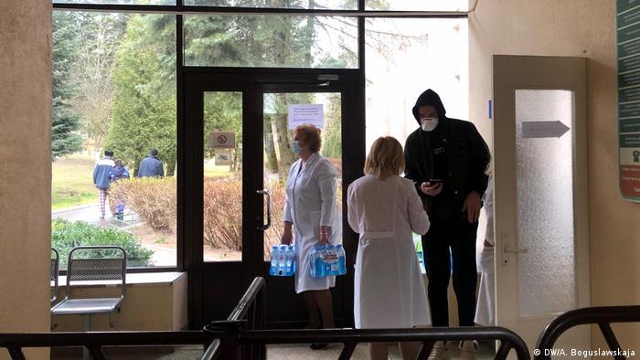 Медики в одной из больниц Минска