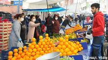 Coronavirus Türkei Istanbul Wochenmarkt