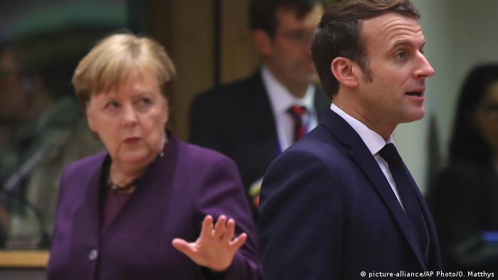 Belgien | Merkel und Macron | EU Summit Brüssel (picture-alliance/AP Photo/O. Matthys)