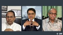 DW Sendung Screenshot | Khaled Muhiuddin, Syed Muhammad Ibrahim, Hasanul Haq Inu