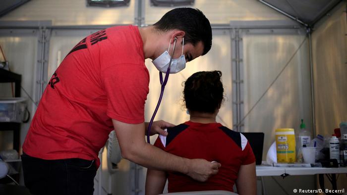 Mexiko Matamoros Asylsuchende im Migrantenlager (Reuters/D. Becerril)