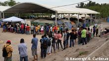 Mexiko Matamoros Asylsuchende im Migrantenlager