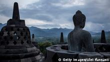 Indonesien Magelang Borobudur Tempel