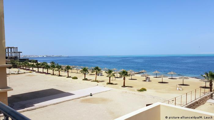 Ägypten Corona-Pandemie | leerer Strand in Hurghada