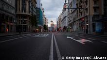 Spanien | Coronavirus: Leere Straßen in Madrid