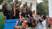 Bangladesch Dhaka Verteilung von Hilfsgütern