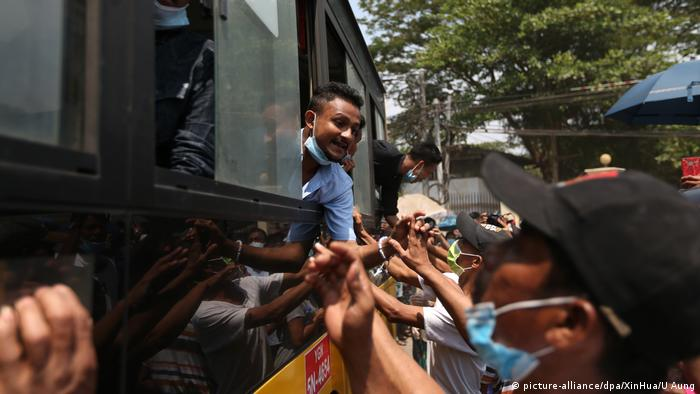 Myanmar Corona-Pandemie | Insein-Gefängnis (picture-alliance/dpa/XinHua/U Aung)