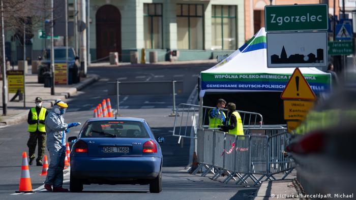 Corona-Pandemie Grenzgebiet zwischen Deutschland und Polen