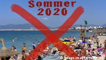 Symbolbild: Aus dem gewohnten Sommerurlaub im Jahr 2020 wird nichts werden