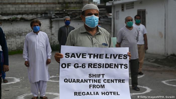 Pakistan Islamabad | Protest gegen Quaratänezentrum