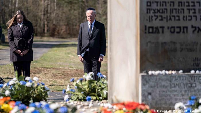Memorial ceremony at Bergen-Belsen