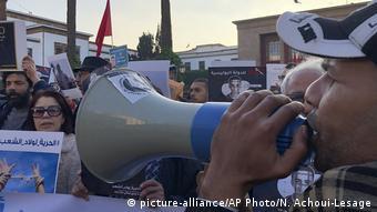 Marokko Demo für Versammlungsfreiheit in Rabat