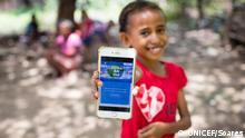 Pressebild digitale Lernplattform von UNICEF und Microsoft