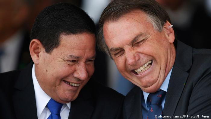 Hamilton Mourão com Jair Bolsonaro