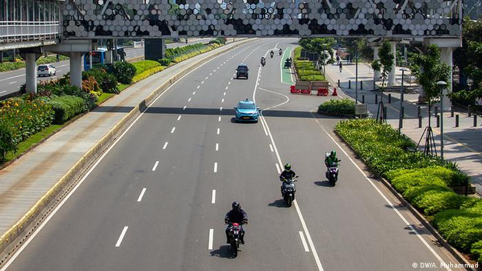 Jalan protokol di Jakarta sepi (DW/A. Muhammad)