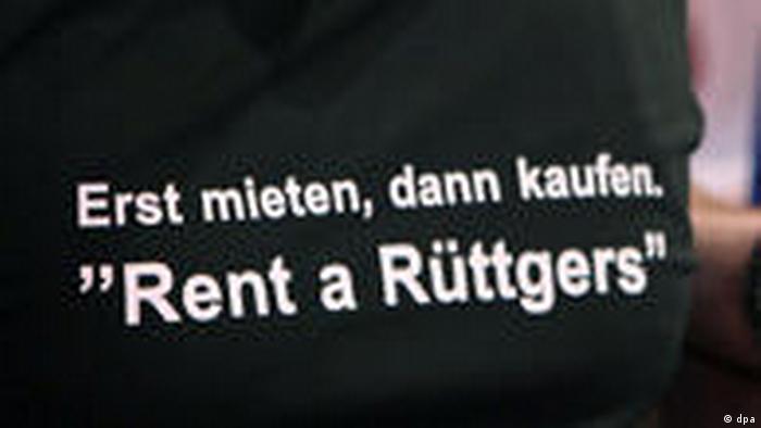 SPD a criticat în 2010 practica CDU în Renania de Nord-Vestfalia de a-l închiria pentru discursuri pe premierul de land Jürgen Rüttgers