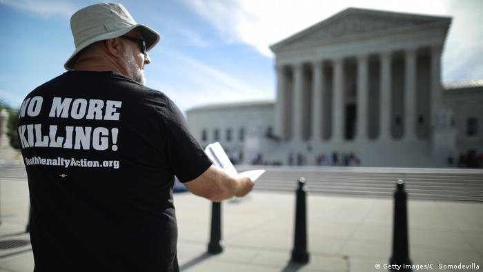 USA Washington Protest gegen Todesstrafe (Getty Images/C. Somodevilla)