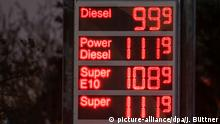 Niedrige Kraftstoffpreise