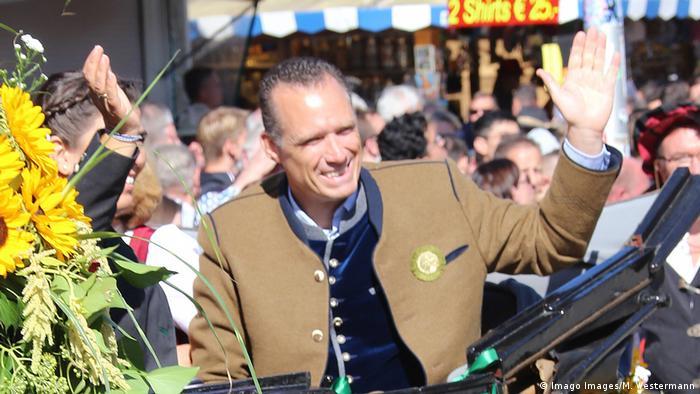 Sprecher der Wiesnwirte, Peter Inselkammer, aufgenommen beim Oktoberfest 2019 (Imago Images/M. Westermann)