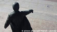 Russland Sankt Petersburg | Coronavirus | Lenin Statur