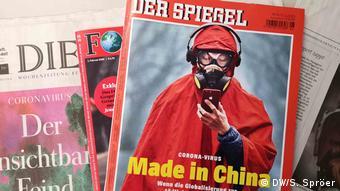 Το περιοδικό Spiegel με τίτλο Κορωνοϊός. Made in China
