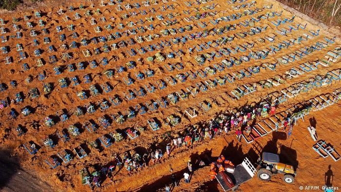 Brasilien Coronavirus Friedhof