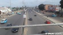 Angola Leere Straßen Coronavirus