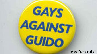 GAG Button Gays against Guido Westerwelle FDP Homosexuelle Kampagne